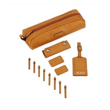 TUMI Accents Kit Leather  Pouch Pria - Tan [1035351847]