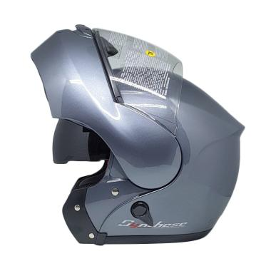 harga Zeus Modular ZS-3000A Helm Flip Up - Titanium Blibli.com