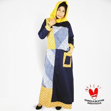 harga Clandestine.id long Batik Garut Kombinasi Dress Gamis Wanita Blibli.com
