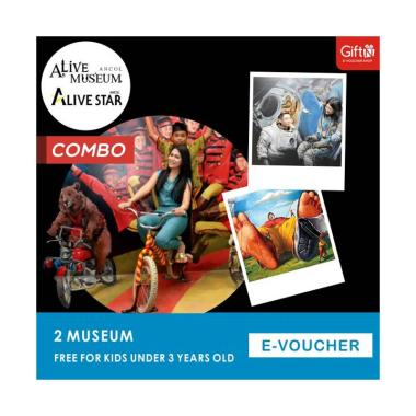 harga Alive Museum Ancol Combo E-Voucher [2 Museum/ All Day / Free for Kids under 3 yrs old] Blibli.com