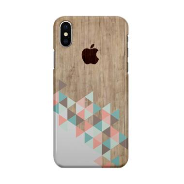 Indocustomcase Apple Archi Wood Cover Hard Case Casing for iPhone XS