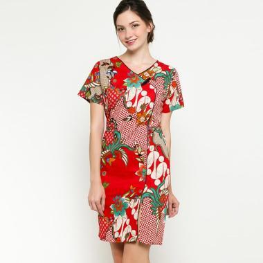 6b3b7c939 Ben & Bella D02 Cheongsam Bunka Batik Dress Wanita - Red