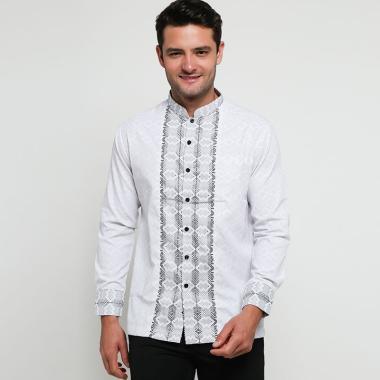 Batik Arjunaweda Tenun Songket 3 Baju Koko Pria - Putih [97095038]