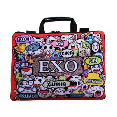 Faryuz K-Pop EXO Sablon Doodle Softcase Tas Laptop ... 23bd62d448
