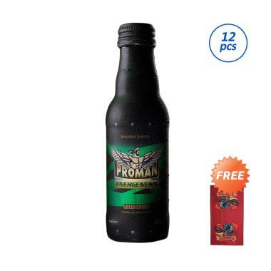 harga PROMAN Green Spirit Minuman Stamina [150 mL/ Buy 12 Free Masker Motor/ Kemasan Botol] Blibli.com