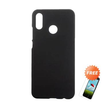 OEM Slim Softcase Casing for Xiaomi Redmi Note 7 or 7 Pro 6.3 Inch - Hitam Solid + Free Tempered Glass