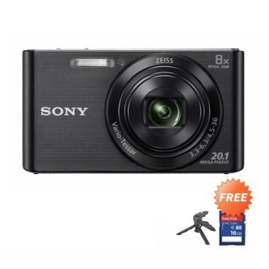 SONY DSC-W830 Kamera Pocket + Free Mini Tripod + SDHC 16GB