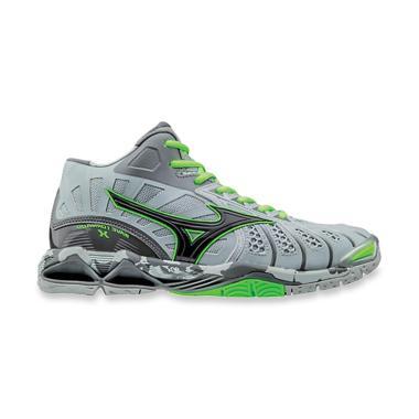 harga Mizuno Wave Tornado X MID High-Rise Black Green Gecko Sepatu Voli [V1GB161709] Blibli.com