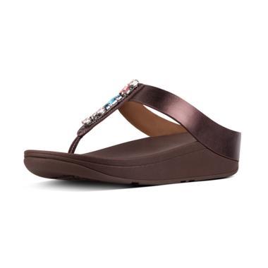 harga Fitflop Fino Bejewelled Toe-Post Sandal Wedges Wanita Blibli.com