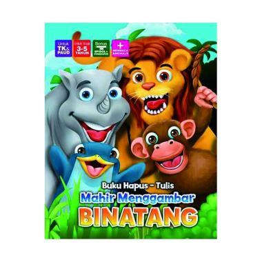 harga Cerdas Interaktif Buku Indonesia - Buku Hapus Tulis Mahir Menggambar Binatang Blibli.com