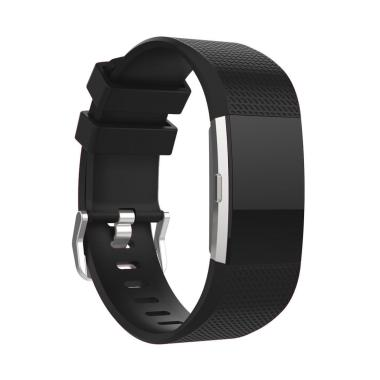 Bluelans Silicone Sports Smart Watch Wrist Strap Bracelet Wristband for Fitbit Charge 2 [L]