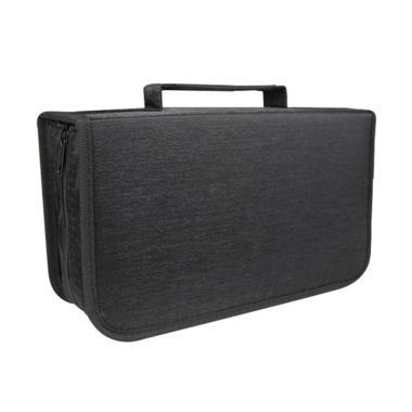 harga Bluelans DVD CD Holder Zipper Album Storage Case Wallet Carrying Bag Organizer - Black [128 Discs] Blibli.com