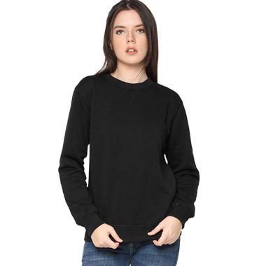 Hoodieku Basic Sweater Wanita - Hitam