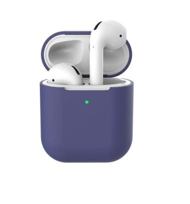 harga Protective Case Cover for Apple Airpods Bluetooth Headphone Earpods Soft Shock-Proof Silicone Case Cover blue Blibli.com