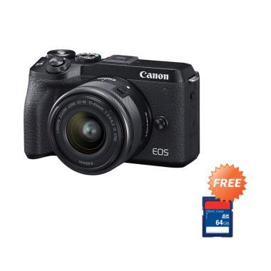 harga Pre Order - Canon EOS M6 Mark II Mirrorless Digital Camera with 15-45mm Lens + Free Memory SDHC 64 GB Blibli.com