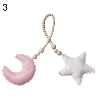 harga Bluelans Plush Moon Pillow Beads Rope Hanging Baby Room Crib Decor Photograph Props Blibli.com