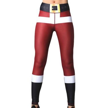 harga Bluelans 5 Christmas Women Snowman Santa Claus Stripe Print Leggings Stretch Yoga Pants Blibli.com