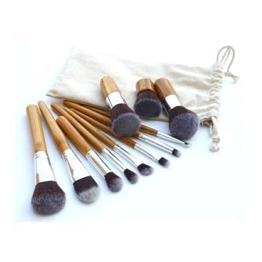 harga Artomoro Kabuki Set Bamboo Wooden Kuas MakeUp [11 pcs] Blibli.com