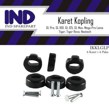 harga IND Onderdil Karet Kopling Motor for GL Pro-Max/Tiger Lama/New Revo-GL 100-125/Neotech-Tiger/Mega Pro Old HItam