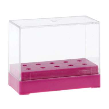 harga Nail Drill Bit Holder Dustproof Stand Displayer Organizer Container 10 Holes Rose Red Blibli.com
