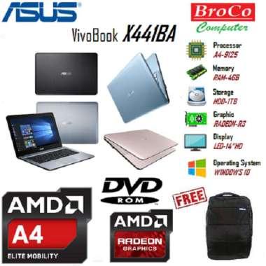 harga Asus X441BA (AMD® A4-9125/4GB-RAM/1TB-HDD/14