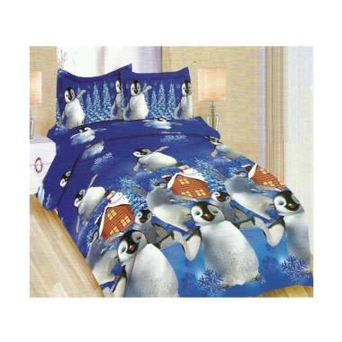 Bonita Blue Penguin Set Sprei [180x200 cm]