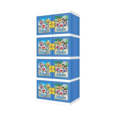 Naiba 8674 XB Doraemon Lemari Plastik - Biru
