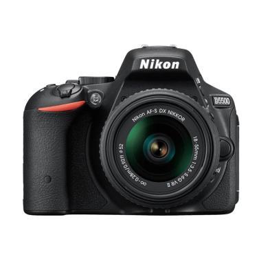 Nikon D5500 Kit 18-55mm VR Kamera DSLR - Hitam