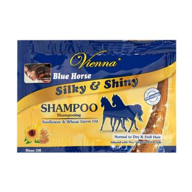 Vienna Blue Horse Silky & Shiny Shampoo - 10mL [10 Pcs]