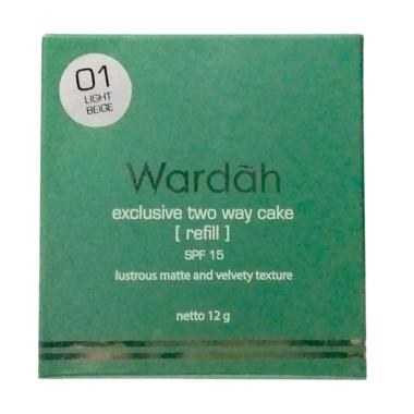 Refill Wardah Two Way Cake - Light Beige
