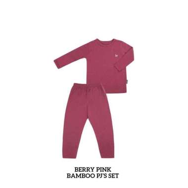 harga Little palmerhaus bamboo pjs set (piyama anak) 6 tahun berry pink Blibli.com
