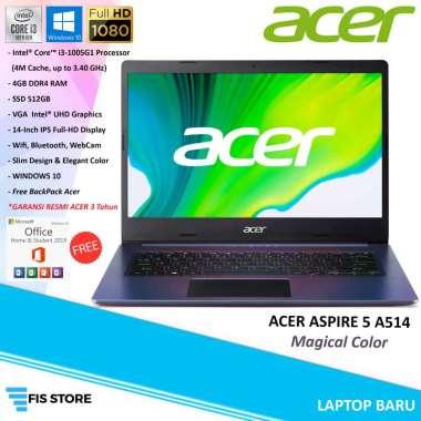 harga ACER ASPIRE 5 A514-53 i3-1005G1/4GB/SSD 512GB/14