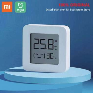 harga Xiaomi Mijia Temperature and Humidity Monitor 2 Bluetooth 4.2 LYWSD03MMC Portable Smart Sensor Thermometer Hygrometer LCD Digital Mi Home App White Blibli.com