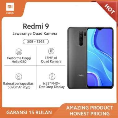 harga XIAOMI Redmi 9 (3GB+32GB) - 13MP Quad Kamera Helio G80 Layar 6.53 FHD+ Baterai 5020mAh Garansi Resmi - Carbon Grey Blibli.com