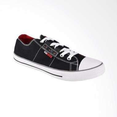Carvil Canvas Mens Shoes Sepatu Casual Pria - Black Toronto-M
