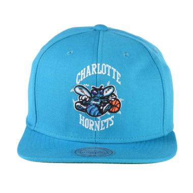 Mitchell n Ness NBA Wool Solid Teal Charlotte Hornets Snapback NZ979