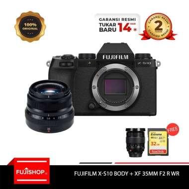 harga FUJISHOPID SERPONG Fujifilm XS10 X-S10 Body with XF 35mm F2 R WR Fuji XS10 Kamera Mirrorless + Sandisk 32 GB + Mug Lens 16-55 [By Claim] GARANSI RESMI Blibli.com