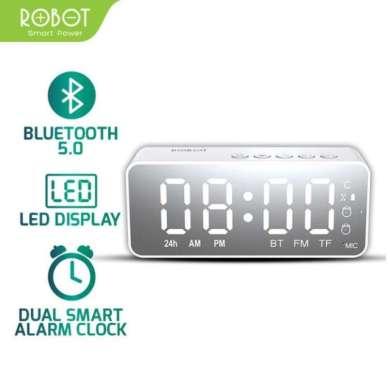 harga SPEAKER BLUETOOTH ROBOT RB150 STEREO LED DISPLAY ALARM CLOCK WITH FM RADIO, GARANSI RESMI - ORIGINAL WHITE Blibli.com