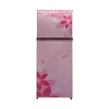SHARP SJ316NDFP SMALL 2 DOOR REFRIGERATOR (256 Liter) - Flower Pink