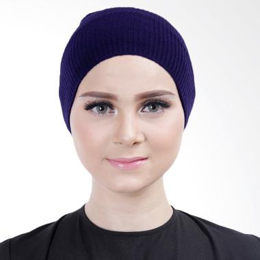 Cantik Kerudung Lizzie Inner Rajut Bandana - Navy Blue