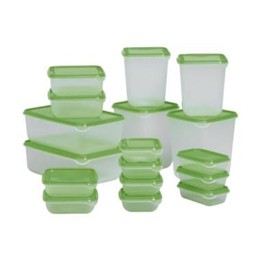 Ikea Pruta Set Wadah Penyimpanan Makanan - Hijau [Isi 17]