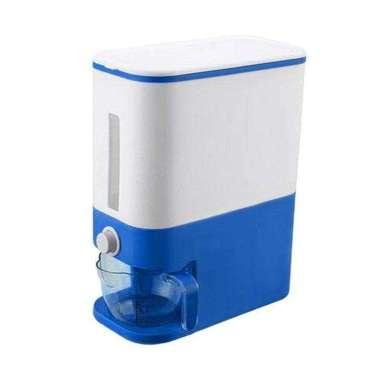 harga OEM ONE - C203 Dispenser Beras 12KG Rice Box -Tempat Penyimpanan Beras Otomatis Dengan Wadah Pengering Beras Dispenser BIRU TUA Blibli.com