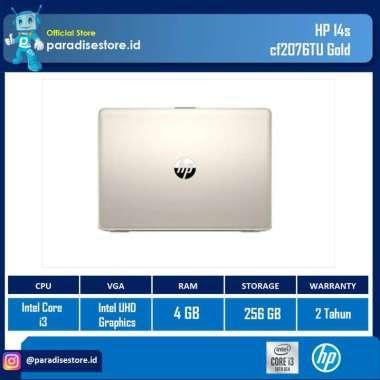 harga Laptop HP 14s-cf2076TU Gold (Ci3-10110U/4GB/256GB/14