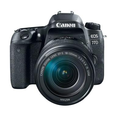 Canon EOS 77D Kit 18-135mm IS USM Kamera DSLR - Black