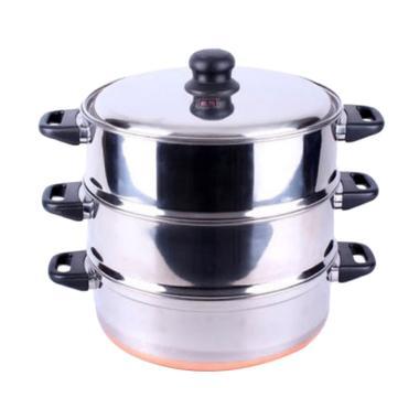 Maspion Langseng Orozeta 33 Susun 3 Peralatan Memasak - Silver