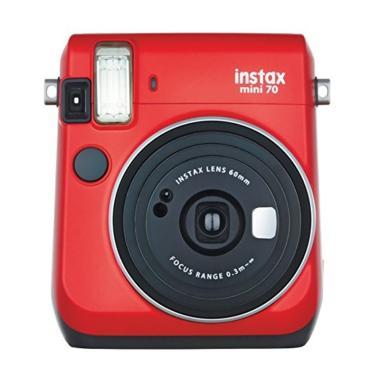 Fujifilm Instax Mini 70 Kamera Polaroid - Merah
