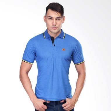 Sognoleather Basic Polo Shirt Pria - Biru smd881