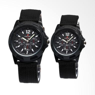Swiss Army LZ003 Jam Tangan Couple - Black