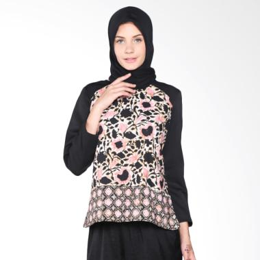 Rauza Rauza Shania Basic Blus Atasan Muslim Wanita - White Black