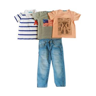 GBS Sens 4in1 Polo Stripe Pakaian Anak